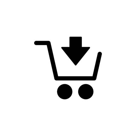 Shopping icon isolated on white background. Shopping cart icon. Basket icon