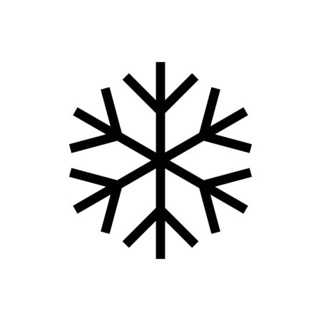 Snowflake icon isolated on white background. snow icon vector. Symbol of winter, frozen