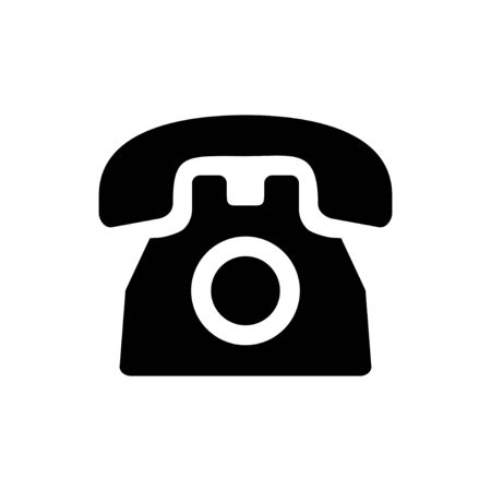 Telephone icon isolated on white background. Phone icon vector. Call icon vector. Vectores