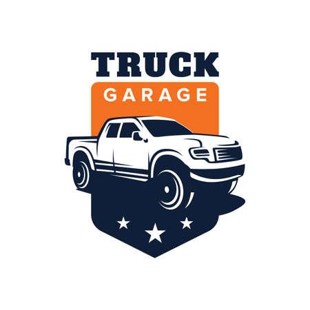 Truck car vector logo illustration Illustration