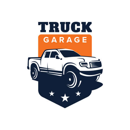 Truck car vector logo illustration Иллюстрация