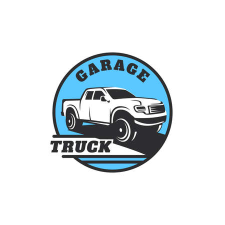 Camion voiture illustration vectorielle logo Banque d'images - 97324513
