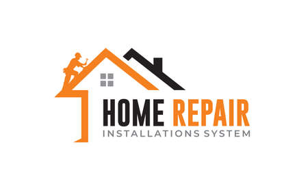 Creative Home repair, Real Estate, Construction, Building Concept Logo Design template