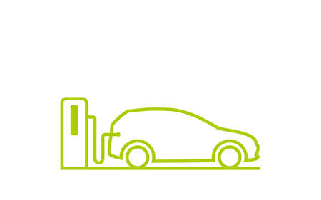Creative innovation for modern electric charging car Logo Design template