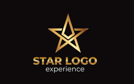 The creative luxury of star logo designs template, Elegant Star logo designs Logo