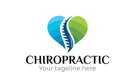 Illustration of chiropractic Logo Design Template