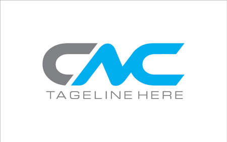 Creative graphic vector of CNC Letters logo vector template.