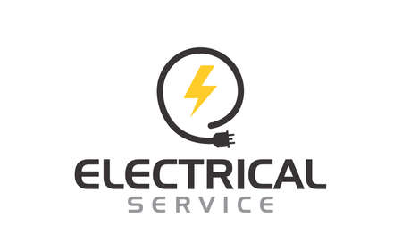 Creative innovation for electrician service Concept Logo Design