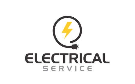 Creative innovation for electrician service Concept Logo Design