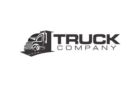 Truck and logistics transportation Logo Vector Design
