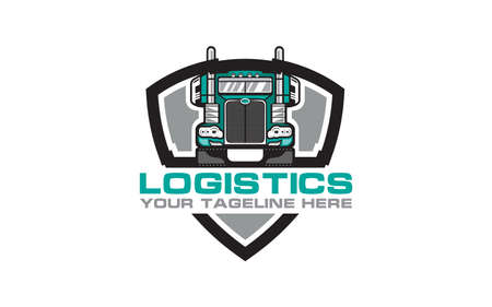 Truck and logistics transportation Logo Vector Design