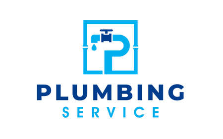 Creative of a plumbing and maintenance service logo