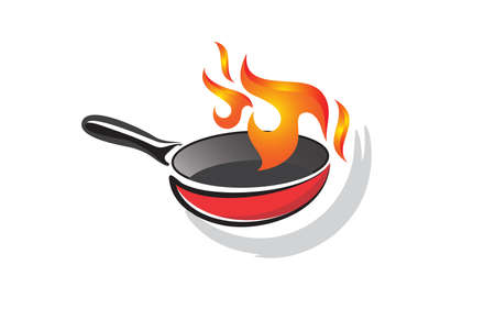 Illustration vector graphic of Frying pan design template