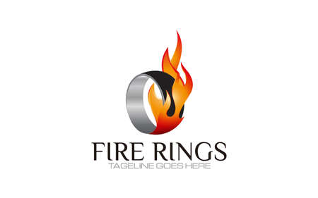 Illustration vector graphic of fire ring logo design template for your business