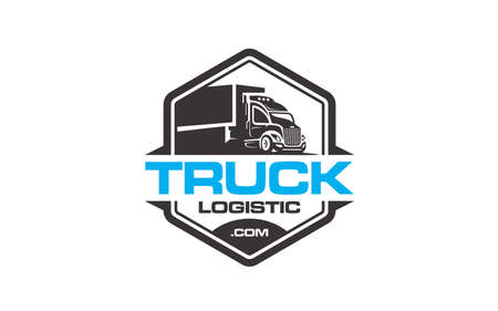 Creative of logo for truck logistic transportation concept vector