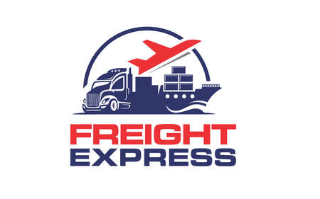 Creative of logo for truck logistic transportation concept vector ЛОГОТИПЫ