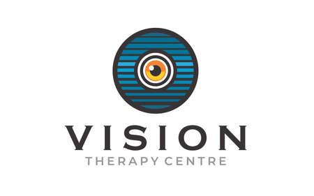 Creative Innovation for Eye Vision Concept Logo Design Template Ilustracja