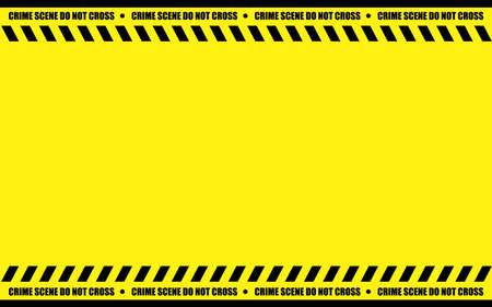 Illustration graphic vector of Police Line design template with black backround Ilustração