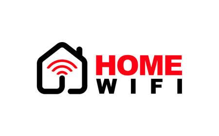Illustration graphic vector of wifi internet access logo design template Ilustração
