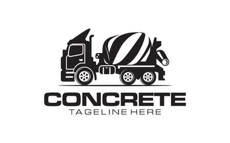 Illustration vector graphic of concrete mixer truck logo vector template.