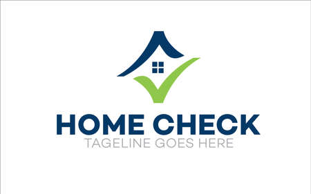 Illustration vector graphic of home inspection company logo design template