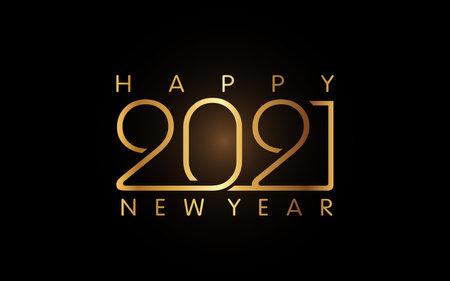 Illustration vector graphic of 2021 Happy New Year logo design template Ilustração