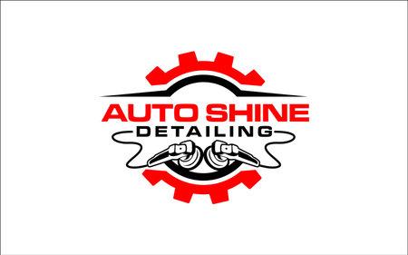 Illustration vector graphic of auto detailing servis design template