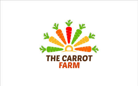 Illustration vector graphic of carrot logo design template with a white background