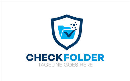 Illustration vector graphic of folder file data logo template design