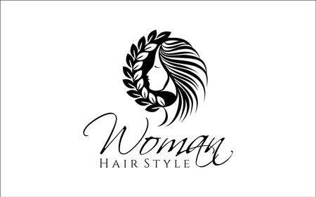 Illustration vector graphic of beautiful modern hair style design template Ilustración de vector