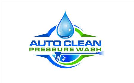Illustration vector graphic of pressure power wash spray design template Ilustración de vector