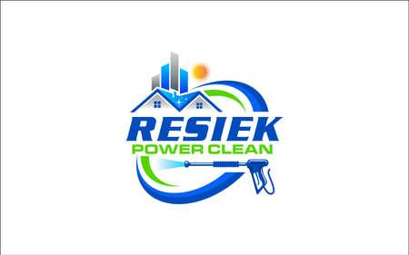Illustration vector graphic of pressure power wash spray logo design template Logo