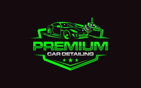 Illustration vector graphic of auto detailing servis logo design template Logo