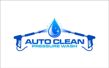 Illustration vector graphic of pressure power wash spray logo design template-26 Logo