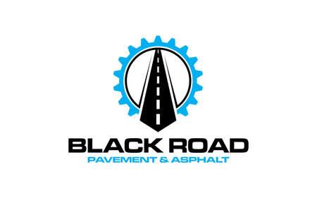 Illustration graphic vector of Asphalt repair, roadwork, pavement logo design template
