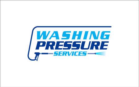 Illustration vector graphic of pressure power wash spray logo design template-26