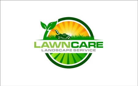Illustration vector graphic of lawn care, landscape, grass logo design template