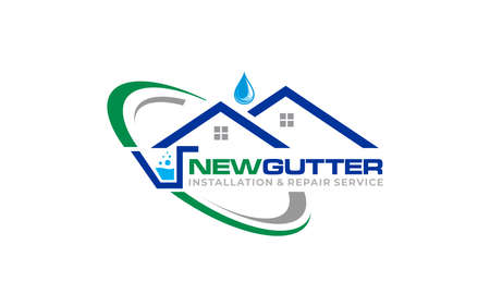 Illustration graphic vector of gutter installation and repair service logo design template