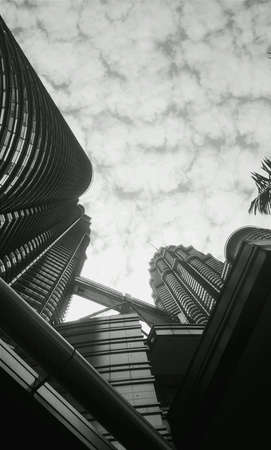 monocrome: Iconic building Kuala Lumpur Convention Centre Malaysia in black and white Stock Photo