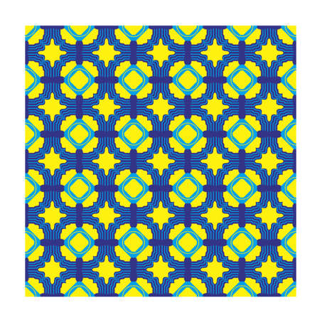 Pattern square seamless with background yellow