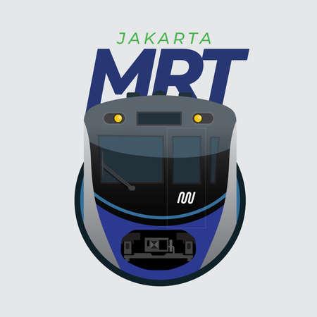MRT Jakarta Front View Vector Illustration