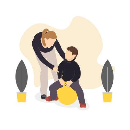 Women and children illustration set for motherhood concept, pregnancy, family holiday Vektorgrafik