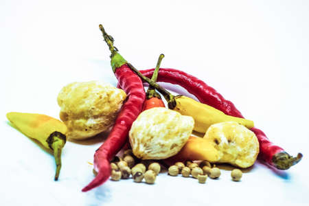photo of fresh ingredients with a white background 版權商用圖片