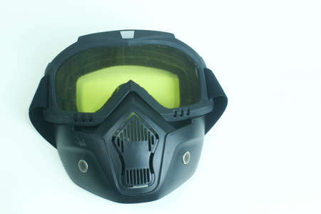 face masks for extreme sports such as paintball and airsoft gun, protect eyes and face from paint or plastic bullets, become mandatory equipment in the arena, have clear protectors