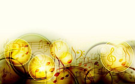 Abstracte bladmuziek ontwerp achtergrond met muzieknoten Stock Illustratie