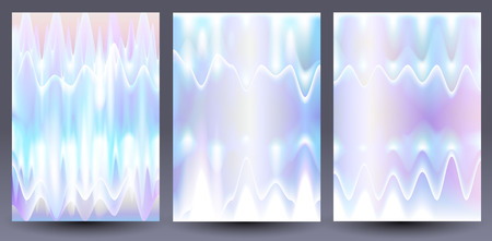 White liquid holographic backgrounds. Flyer, brochure, banner design template