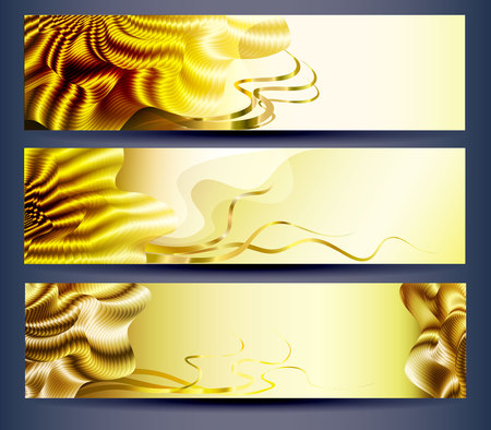 Set of abstract website headers, backgrounds