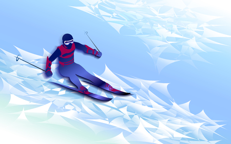 Winter sports background. Ilustracja