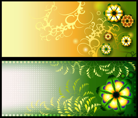 Floral backgrounds, banners, flyers templates