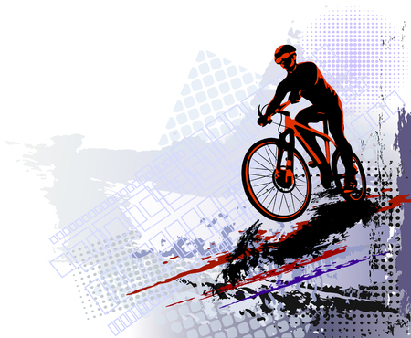 Bicycle race background. Sports illustration